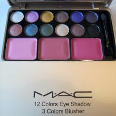 Trusa Machiaj MAC -12 colors eye  , 3 colors blusher -Model 03