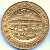 MEDALIE A V A REUNIUNE A COLECTIONARILOR DE INSIGNE SNR SECTIUNEA PETROSANI 1979 - Medalii Romania, An: 1989
