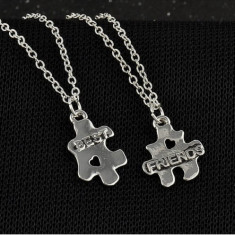 Pandantiv / Colier / Lantisor - BFF - Best Friends - Puzzle Style