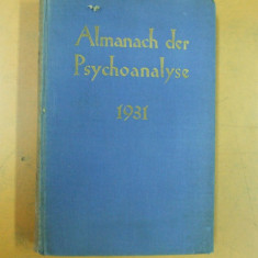 Psihanaliza almanah Viena 1931 Internationaler Psychoanalitischer Verlag Wien - Carte Psihiatrie