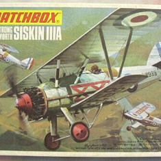 Macheta avion biplan Armstrong Whitworth Siskin IIIA Model Kit by MATCHBOX - Macheta Aeromodel Matchbox, 1:72