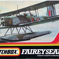 Macheta avion biplan hidroavion Fairy Seafox Model Kit by MATCHBOX (Original!!!) - Macheta Aeromodel Matchbox, 1:72