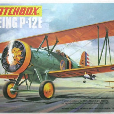 Macheta avion biplan Boeing P-12E Model Kit by MATCHBOX (Original!!!) - Macheta Aeromodel Matchbox, 1:72
