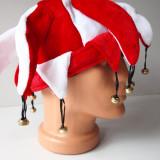 Caciula DINAMO  fes cu clopotei joben ROSU +ALB romania steag sapca basc RO3