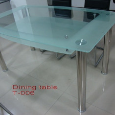 Mese sticla T06 - Masa bucatarie