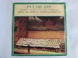 """RAR! VINIL LP 10"""" ,,PUI DE LEI'' CINTECE PENTRU PIONIERI SI SCOLARI IMPECABIL, electrecord"""