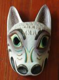 Masca deosebita din lemn pictata manual / sculptata  - model deosebit de animal