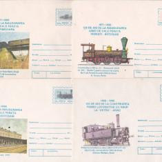 Bnk fil Lot 12 intreguri postale 1996 - tematica feroviara