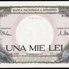 4. ROMANIA, 1000 LEI 1941, UNC - Bancnota romaneasca