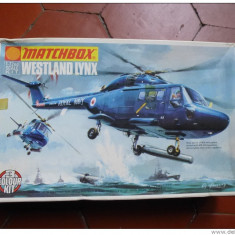 Macheta helicopter Westland Lynx Model Kit by MATCHBOX (Original!!!) - Macheta Aeromodel Matchbox, 1:72