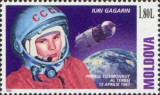 MOLDOVA 2001, Aniversari, Cosmos, Iuri Gagarin, serie neuzată, MNH, Nestampilat