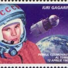 MOLDOVA 2001, Aniversari, Cosmos, Iuri Gagarin, serie neuzată, MNH