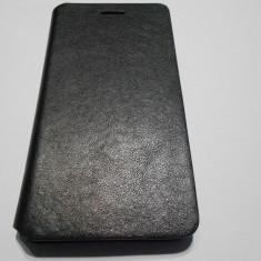 Husa HUAWEI ASCEND P8 Lite - Husa Telefon, Huawei P8, Negru, Piele, Cu clapeta