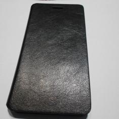 HUSA SONY XPERIA M4 AQUA - Husa Telefon, Negru, Piele, Cu clapeta