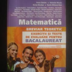MATEMATICA BREVIAR TEORETIC EXERCITII SI TESTE DE EVALUARE PENTRU BACALAUREAT - Culegere Matematica
