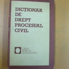 Dictionar de drept procesual civil Mircea Costin Bucuresti 1983 - Carte Drept procesual civil