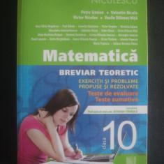 MATEMATICA BREVIAR TEORETIC EXERCITII SI PROBLEME PROPUSE SI REZOLVATE CLASA X - Culegere Matematica