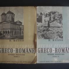 D. RUSSO - STUDII ISTORICE GRECO-ROMANE * OPERE POSTUME 2 volume {1939} - Istorie