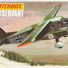 Macheta avion Dornier Skyservant Model Kit by MATCHBOX (Original!!!) - Macheta Aeromodel Matchbox, 1:72