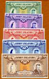 !!! JASON  ISLANDS - LOT  COMPLET (1979) : 0,50 ; 1 , 5 , 10 , 20 lire - UNC