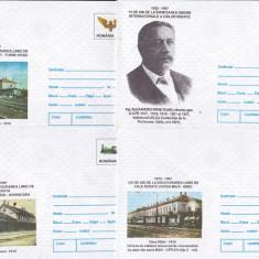 Bnk fil Lot 7 intreguri postale 1997 - tematica feroviara