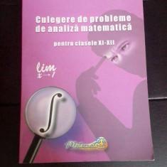 Gheorghe Adalbert Schneider Culegere  matematica pentru clasele XI-XII, Clasa 12