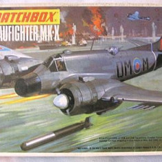 Macheta avion Beaufighter Mk-x Model Kit by MATCHBOX (Original!!!) - Macheta Aeromodel Matchbox, 1:72