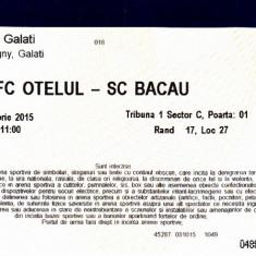 Bilet intrare fotbal Otelul Galati - SC Bacau 3 oct 2015, liga 2 - Bilet meci