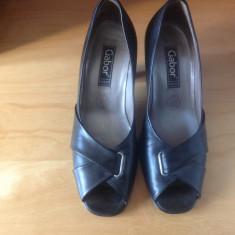 Pantofi dama piele Gabor masura 35 1/2 - Pantof dama, Culoare: Negru, Marime: 35.5, Piele naturala