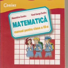 Matematică - manual pentru clasa a III-a, Editura Corint, Alexandrina Dumitru - Manual scolar corint, Clasa 3