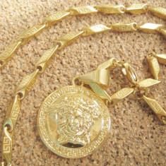 Lant medalion inox placat model Versace Medusa= 60 ron - Lantisor inox