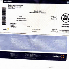 Bilet intrare gala box Cristian Hammer Ciocan vs Sherman, 28 august 2015 DMS - Bilet meci