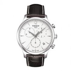 Ceas Tissot Tradition Swiss silver Chronograph - Ceas barbatesc Tissot, Elegant, Quartz, Inox, Piele, Cronograf