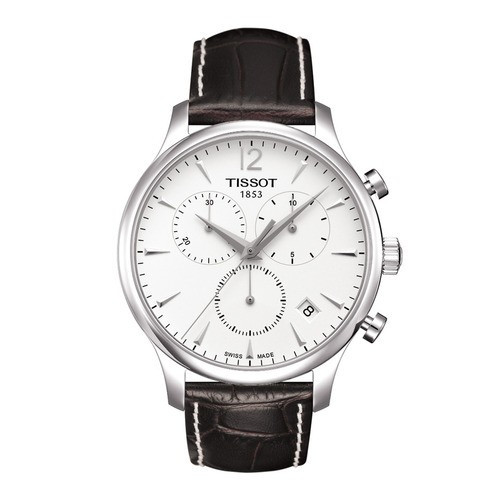 Ceas Tissot Tradition Swiss silver Chronograph foto mare
