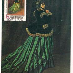 % ilustrata maxima-C.Monet-sotia artistului-prima zi, An: 1970, Oameni