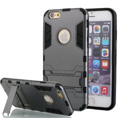 Husa ARMOR  iPhone 6 6s gri titan + Folie display GRATIS, iPhone 6/6S, Gel TPU