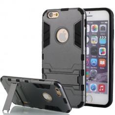 Husa ARMOR iPhone 6 6s gri titan + Folie display GRATIS - Husa Telefon, Gel TPU, Carcasa