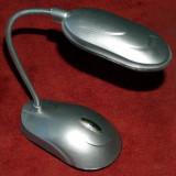 Veioza cu 8 leduri, braţ flexibil, ideală pt. iluminat tastatura pc - Corp de iluminat, Veioze