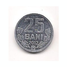 No(3) moneda-MOLDOVA-25 bANI-2012 - Moneda Romania, An: 2011, Cupru (arama)