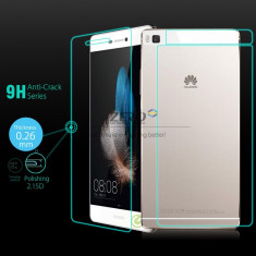 Pachet FATA+SPATE folie sticla tempered glass Huawei ascend P8 - Folie de protectie Huawei, Anti zgariere