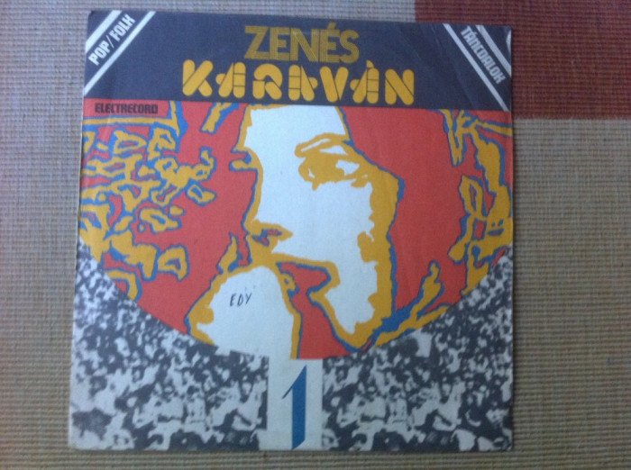 Zenes Karavan 1 Caravana Muzicala disc vinyl lp compilatie muzica folk rock pop