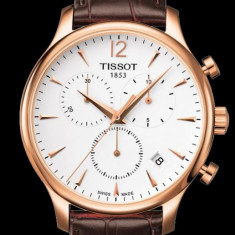 Ceas Tissot Tradition Swiss Gold Chronograph - Ceas barbatesc Tissot, Elegant, Quartz, Inox, Piele, Cronograf