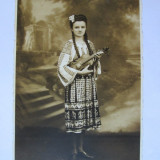 FOTO TANARA IN COSTUM POPULAR 1944 - Fotografie, Portrete, Romania 1900 - 1950