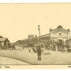 Carte postala ilustrata, Romania, Focsani, Piata, 1917, FELDPOST si spital - Carte Postala Muntenia 1904-1918, Circulata, Fotografie