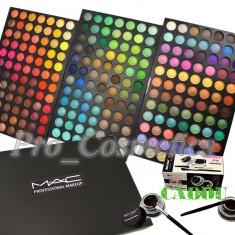 Trusa Machiaj 252 culori MAC farduri mate si sidefate + CADOU Eyeliner Gel - Trusa make up