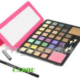 Trusa Machiaj 38 culori MAC cu blush si pudra + CADOU Creion MAC - Trusa make up
