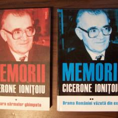 Cicerone Ionitoiu - Memorii, 2 vol (Polirom, 2009, 2011) - Istorie