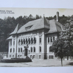 C.P. ORASUL STALIN CASA CENTRALA A.R.L.U.S. ANII 50 - Carte Postala Transilvania dupa 1918, Circulata, Printata, Brasov