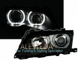 Faruri BMW seria 3 E46 facelift cu Angel Eyes F30 design, 3 (E46) - [1998 - 2005]