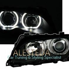 Faruri BMW seria 3 E46 facelift cu Angel Eyes F30 design, 3 (E46) - [1998 - 2005]